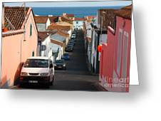Street In Lagoa - Azores Greeting Card