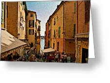 Street In Villefranche II Greeting Card