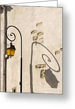 Street Lamp And Shadow Greeting Card by Igor Kislev