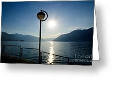 Street Lamp And Water Greeting Card