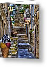 Street Lane In Dubrovnik Croatia Greeting Card