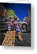 Street Life 4 Greeting Card