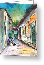 Street Life In Nicosia Greeting Card