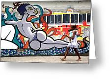 Street Life Rio De Janeiro Greeting Card by Joe Rondone