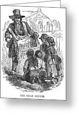 Street Musician, 1850 Greeting Card