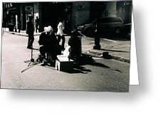 Street Musicians- Grandpa Elliot Greeting Card