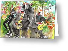 Street Musicians In Cyprus Greeting Card