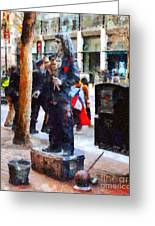 Street Performer In Downtown San Francisco . 7d4246 Greeting Card by Wingsdomain Art and Photography