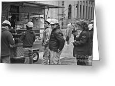 Street Photography - Picking Up Lunch Greeting Card