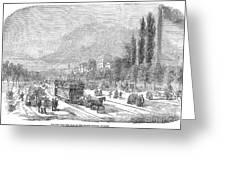 Street Railway, 1853 Greeting Card