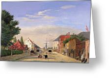Street Scene Greeting Card