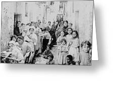 Street Scene In Athens Greece - C 1919 Greeting Card
