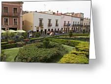 Street Scene In Plaza De La Paz Greeting Card