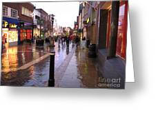 Street Scene Outside Windsor Castle Greeting Card