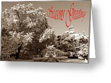 Street Scene Seasons Greetings Greeting Card
