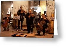 Street String Quartet Greeting Card
