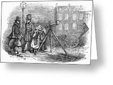 Street Telescope Greeting Card