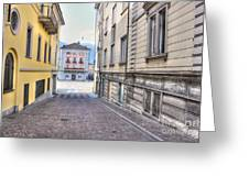 Street With Houses Greeting Card