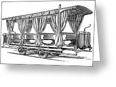 Streetcar, C1880 Greeting Card