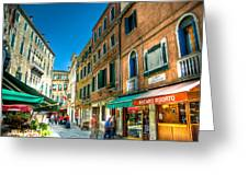 Streets Of Venice Greeting Card