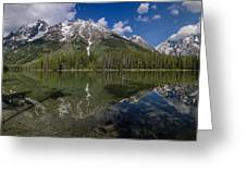 String Lake Panorama Greeting Card