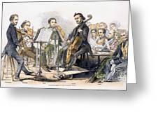 String Quartet, 1846 Greeting Card