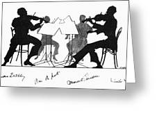 String Quartet, C1935 Greeting Card