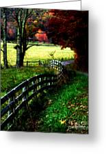 Strolling Down The Old Country Road Greeting Card