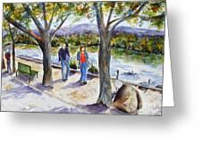 Strolling Virginia Lake Greeting Card