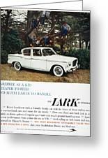 Studebaker Ad, 1959 Greeting Card