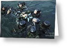 Students Secure A Simulated Casualty Greeting Card