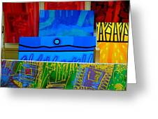 Painting Collage  II Greeting Card