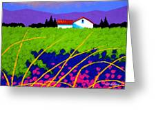 Study For Provence Painting Greeting Card