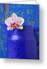 Study In Blue Greeting Card
