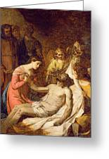 Study Of The Lamentation On The Dead Christ Greeting Card