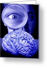 Studying The Brain, Conceptual Image Greeting Card