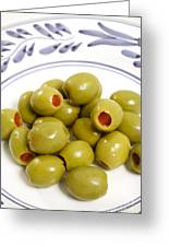 Stuffed Green Olives Greeting Card