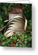 Stump And Fronds Greeting Card