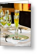 Stylish Dining Table Arrangement Greeting Card