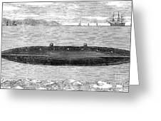 Submarine, 1852 Greeting Card