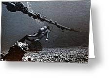 Submarine Telephone Cable And Diver - Hanauma Bay 1973 Greeting Card
