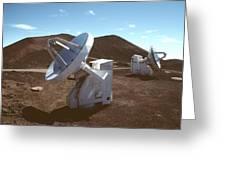 Submillimetre Array Telescopes Greeting Card