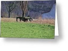 Subsoiler On The Farm  Greeting Card