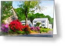 Suburban Azalea Garden Greeting Card