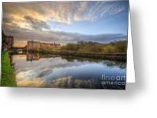 Suburban Sunrise Reflection  Greeting Card