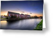 Suburban Sunset 3.0 Greeting Card