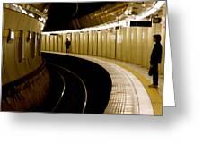 Subway Curve Greeting Card