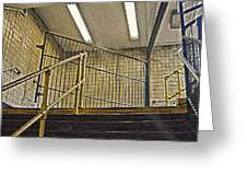 Subway Exit In New York Greeting Card