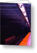 Subway Silence Greeting Card