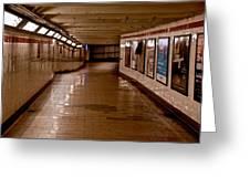 Subway Tunnel Greeting Card